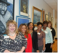 Photos by Eric M. Winkfield The leadership team for the women's counsel are shown here in the Florida A&M University's Meek-Eaton Black Archives Research Center. The women are (from left) Deanna Mims; Neidy Hornsby, Jami Coleman, Christic Henry, Gina Kinchlow and Judy Micale.