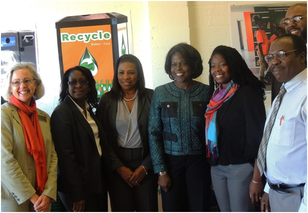 Photo by Christal Searcy FAMU officials rallied together to open the university's Recycling Center on Thursday, Feb. 5.