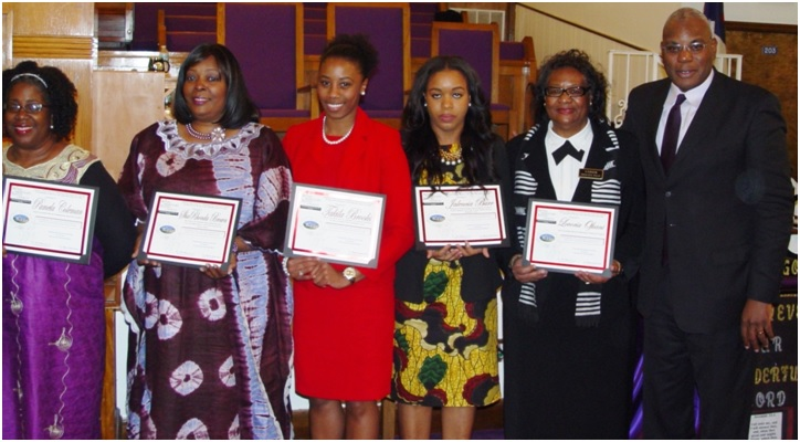 Bethel's other Heritage Day Honorees of 2015 include: Pamela Coleman, ShaRhonda Brown, Takila Brooks, Jalencia Barr, Lovoria Ofuani and Rev. R.B. Holmes.