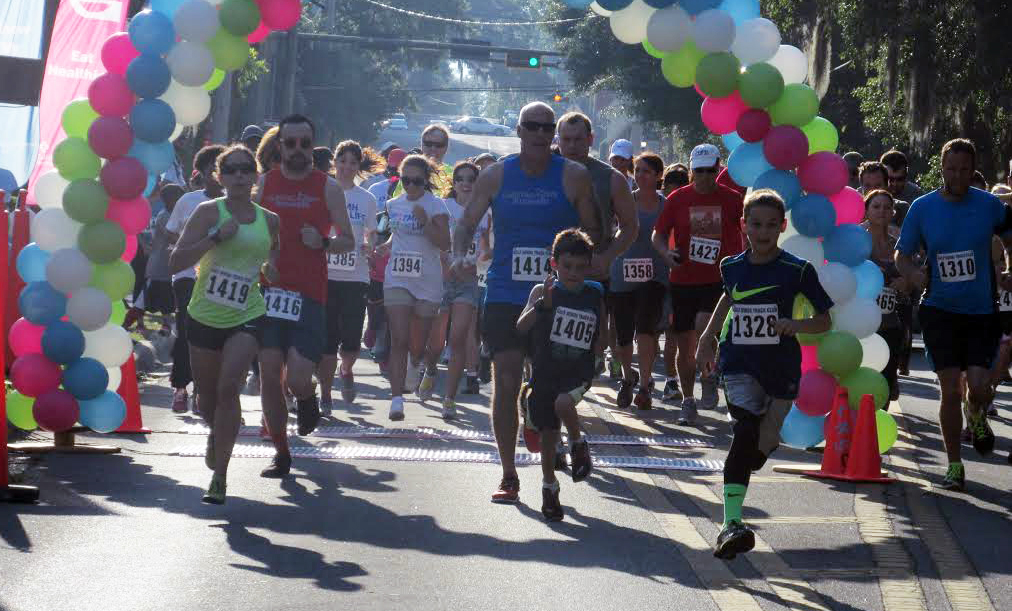 """Photos by Jayla Wilson Runners  kicked off  """"TMH for Life"""" 5K  race at the sound of the whistle on Saturday, May 9."""