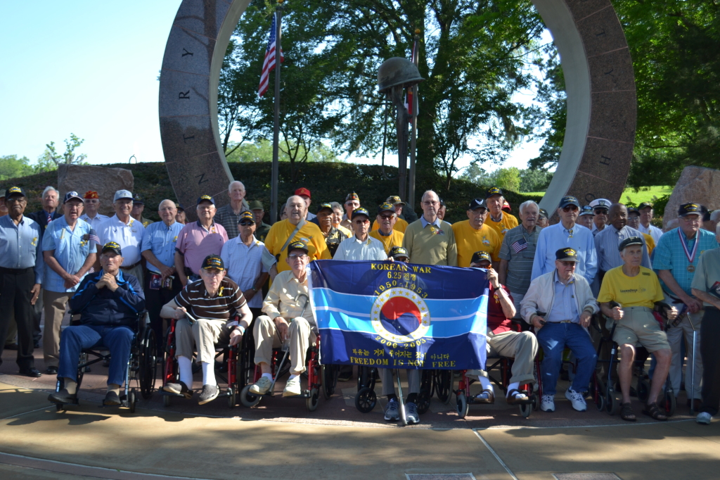 Community members celebrated local Korean War vets on Saturday, May 16 at  Cascade Park. Photo by Janelle Floyd