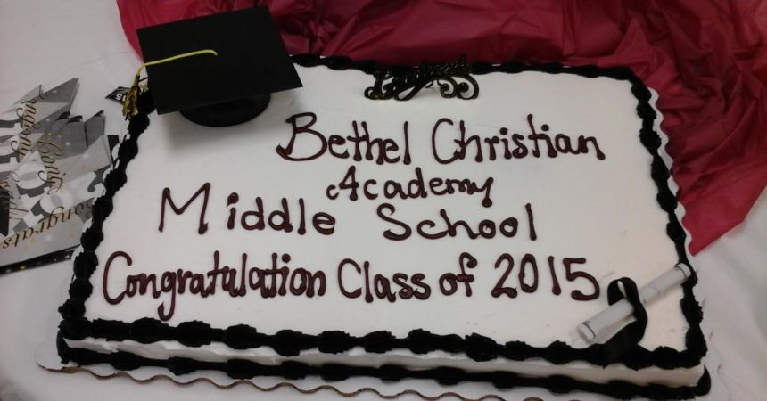 Bethel Christian Academy Middle School Graduation