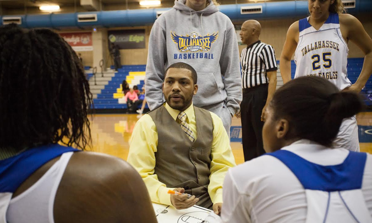 Coach Franqua Bedell will take two of his TCC women's basketball players to the NJCAA later this month. Photo courtesy TCC Athletics
