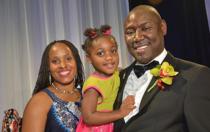 Genae, Brooklyn and Ben Crump  celebrated  during the convention  when he was  inducted as president of  the National Bar Association.