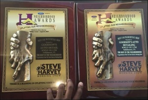 Both of Goodson's neighborhood awards.