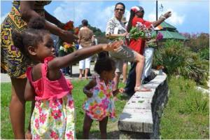 Residents of all ages paid their respects to Julian Bond.