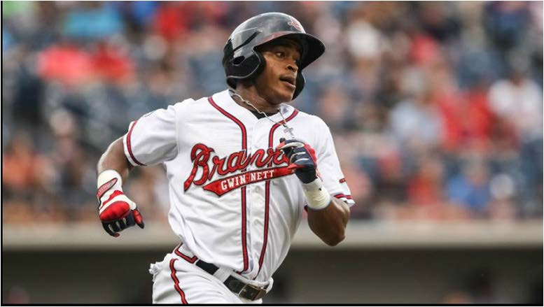 Mallex Smith, the IL's Player of the Month for August, is hitting .309 with 55 steals this season.  Photo by Karl L. Moore/Gwinnett Braves
