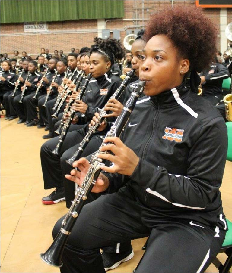 Clarinet players jammed away at FAMU's first battle of the bands.