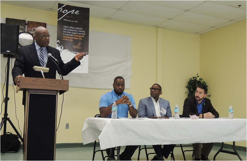 Rev. R.B Holmes spoke on successes and efforts in the community. Photos by Christal Searcy