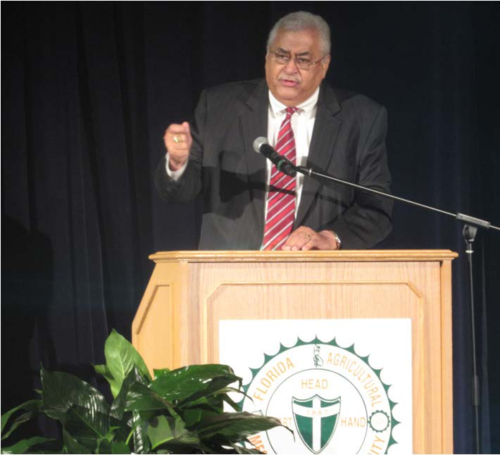 Former FAMU President, Fredrick S. Humphries  spoke about Mobley at the ceremony. Photo by Sherrell Wilkerson