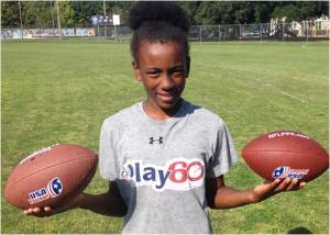 Tonie Morgan is looking for yet another victory in the NFL-sponsored kick, punt, pass competition.  Photos by St. Clair Murraine