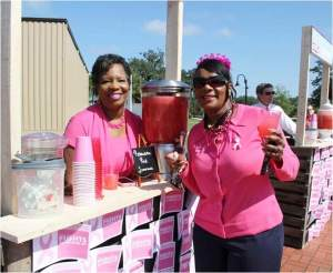 City of Tallahassee employees showed people how to cool down with a cup of ice cold lemonade.