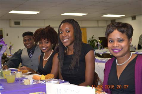 Bethel's Young Adults enjoy a great fellowship at the Poole's reception.