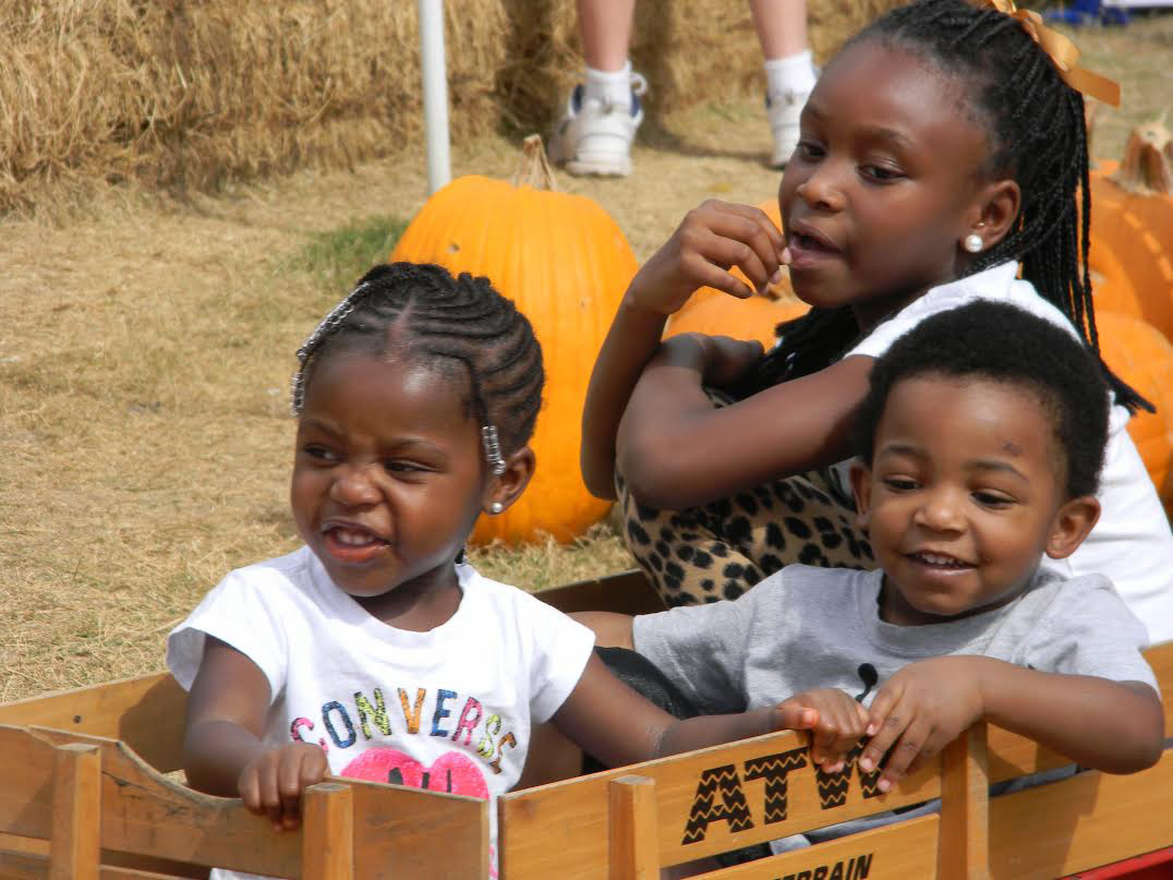 Children got to enjoy a hay ride  at the THUM Pumpkin Patch.   Photos by Mahoganie Reckley