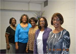 Retiree Luncheon Coordinating Committee:  Martha L.  Saunders, Lovoria Ofuani, Viola Murphy, Carolyn Franklin, Elizabeth Kenon