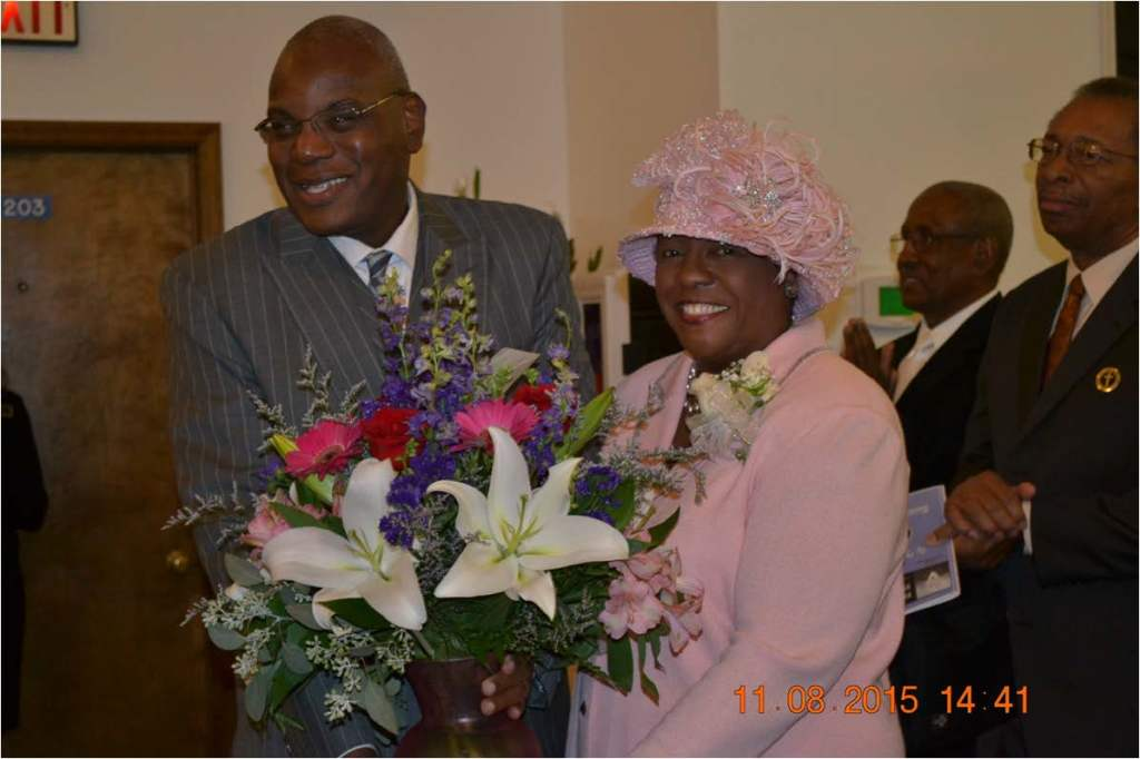 Dr. and Mrs. RB (Dr. Gloria) Holmes at the pastor's 29th anniversary celebration