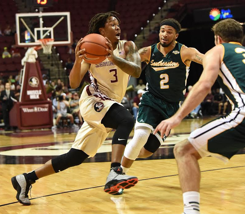 Benji Bell, a former standout player in the Panhandle Conference, had his breakout game for FSU with and 18-point performance. Photo courtesy FSU athletics/Phil Kelly