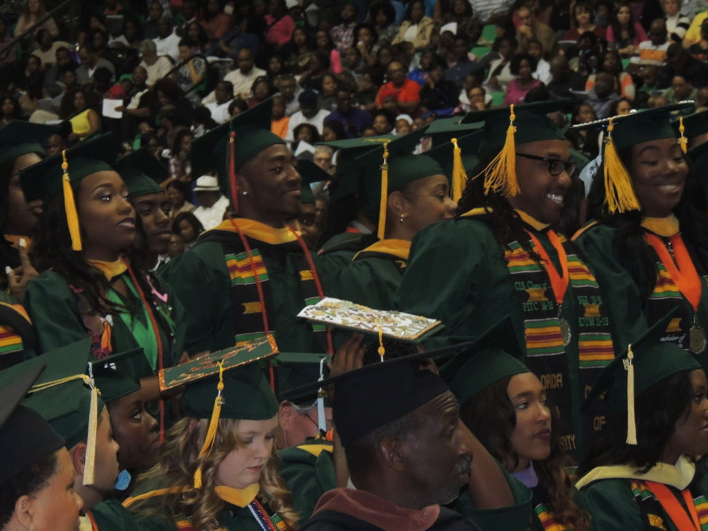 FAMU students stood as their respective colleges were announced. Photo by Diamond  Hunt-Coleman