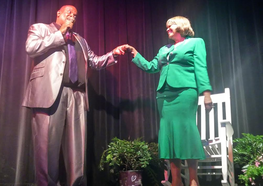 Anthony Williams sang to Anita Favors- Thompson. Photo by Christal Searcy