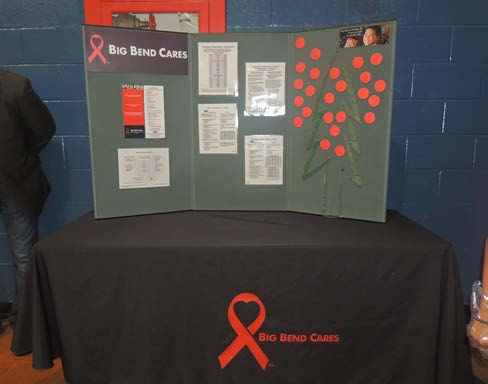 A poster board  displayed national HIV/AIDS statisitcs. Photos by Chrisropher Lampley