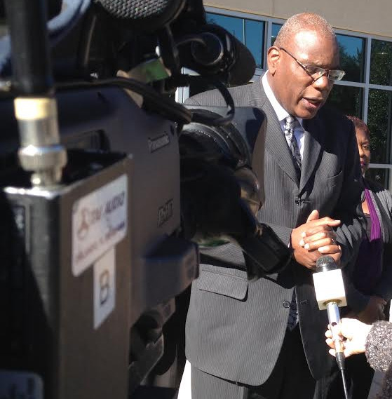 Rev. R.B. Holmes told members of the media that  transparency is important in Dawson's case. Photo by St. Clair Murraine