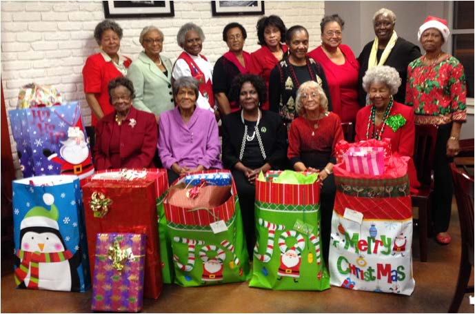 for adopted family.  Front row (Left to Right) Lucille Alexander, Dorothy Wells, Clenteria Drayton, Kate Condra, Margaree Elkins; Back row (Left to Right) Sylvia Petties, Vettye Gibbs, Mae Williams, Bettye Smith, Lenita Joe, Althamese Barnes, Saundra Inge, Murell Dawson, Jerrlyne Jackson