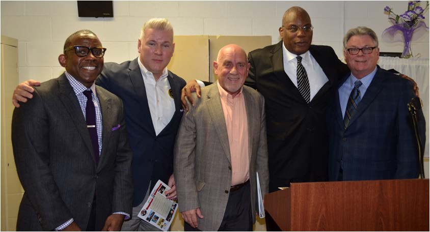 Keith Bowers, Vince Long, Rick Fernandez, Dr. R. B. Holmes, and  Dr. Jim Murdough posed for a picture.