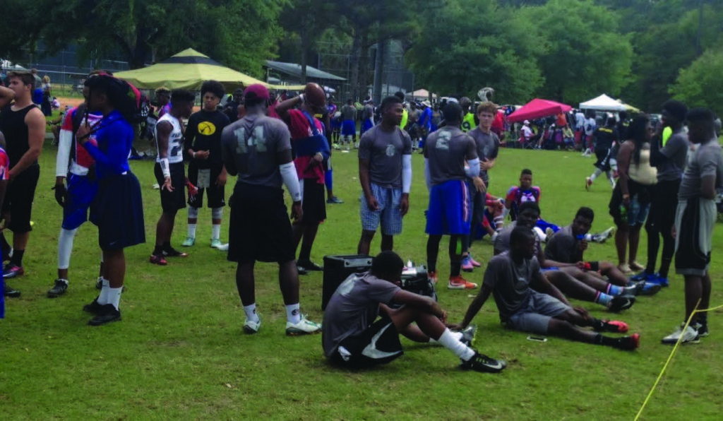Hundreds of fans turned out to support teams in the Sam Madison 7-on-7 Tournament this past weekend. Photos by St. Clair Murraine