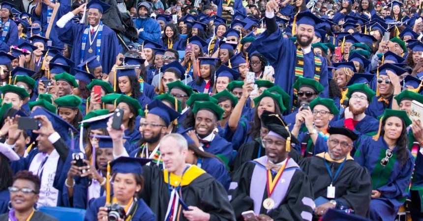 Howard University offers rebates to students who graduate on time