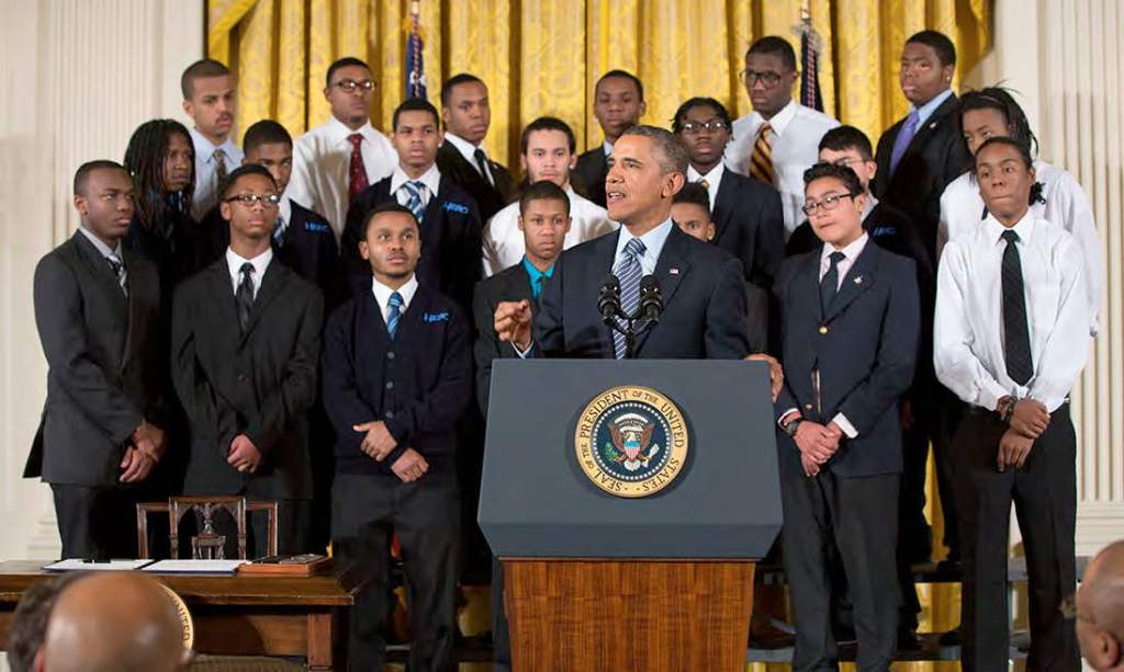President Obama announcing the My Brother's Keeper initiative on Feb. 27, 2014. Photo courtesy of Pete Souza/White House