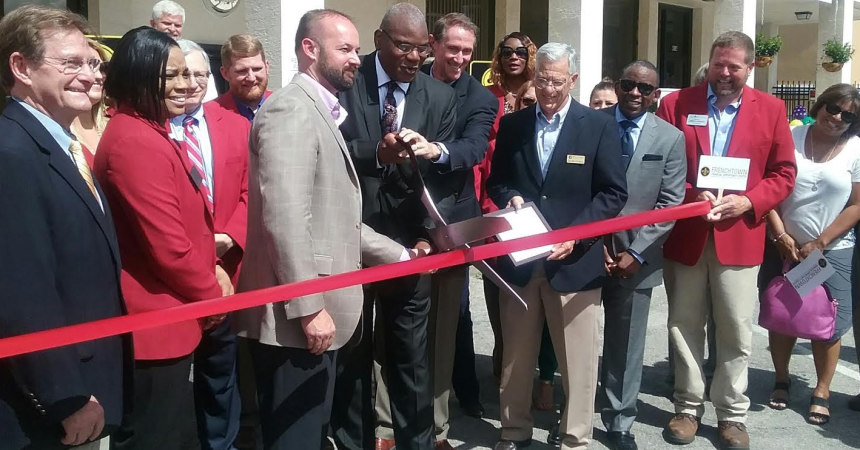 It's official: Frenchtown Financial Center open