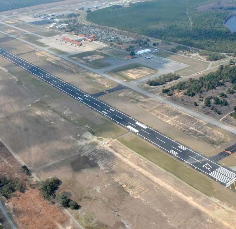 Some of the Tallahassee International Airport's improvements under Chris Curry include upgrades on the runway. /Photo courtesy Tallahassee airport