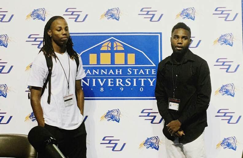 D'Angelo Robertson( left), will enter college this August at Savannah State to study Criminal Justice. Photo special to the Outlook