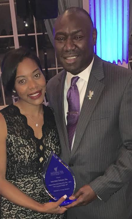 Attorney Jami Coleman shares the spotlight with  Attorney Benjamin Crump after  winning the  National Bar Association's Top 40 Under 40 Award. Photo courtesy Jami Coleman