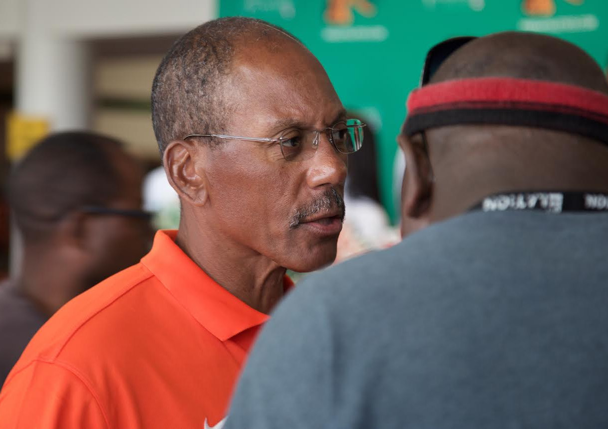 Coach Alex Wood had plenty to tell fans on Saturday about his FAMU football team. Photo by Tyriq Hill