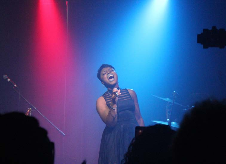 T'keyah Peterson expresses her passion of singing through karaoke. Photo special to the Outlook