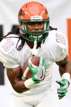 Hans Supre had two rushes for 13 yards for the Rattlers against the Hurricanes. Photo courtesy FAMU athletics