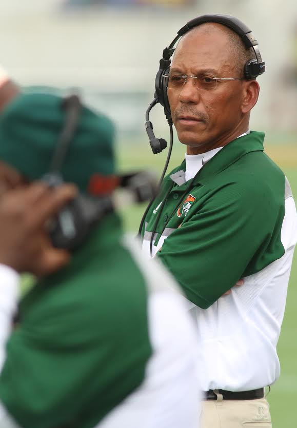 Coach Alex Wood said he was pleased after watching the FAMU football team in its final scrimmage. Photo courtesy FAMU athletics