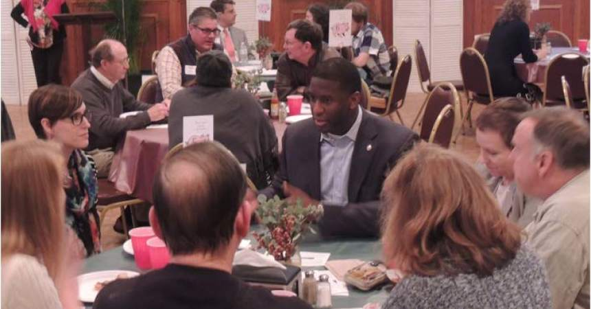 Residents Meet with Local Leaders for Speed Dating