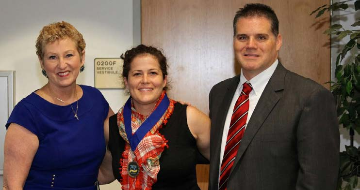 TCC student accessibility service officers posed for a picture together .