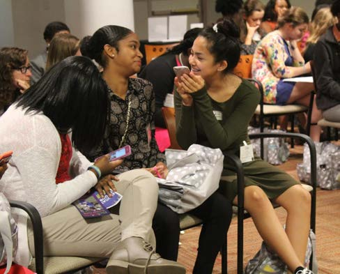 During the breakout sessions, girls were able to mingle with one another.