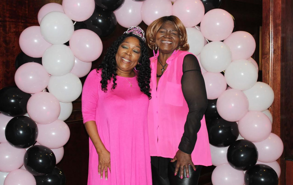 Former America's Got Talent contestant Alice Tan Ridley (left) helps Ruby Harris celebrate her birthday. Photo courtesy Greg Malone