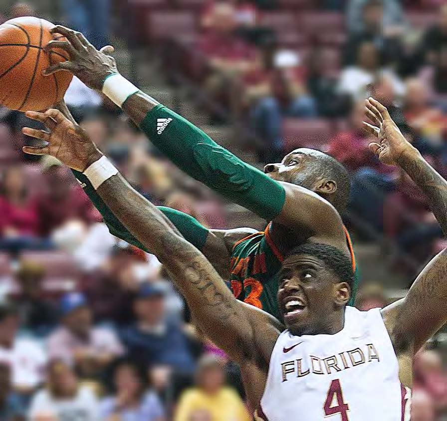 Dwayne Bacon, who is on a 30-game streak of double-digit scoring, is one reason for the Seminoles' success. Photo courtesy Mike Ewen