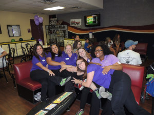 Team Big Brother Big Sister stopped from their bowling for a moment to pose for a picture. Photo by Navael Fontus