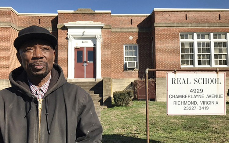 Kenneth Williams, CEO of Adult Alternative Program, plans to use students and young adults to renovate the vacant REAL School building at 4929 Chamberlayne Ave. under a lease agreement with Richmond Public Schools.  Photo couresty of Regina H. Boone/Richmond Free Press