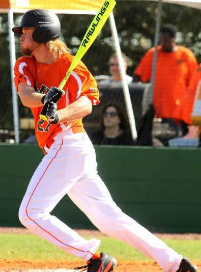 Junior college transfer Aubrey McCarty was solid for the Rattlers with his bat, fielding and pitching in the opening series. Photo courtesy FAMU athletics