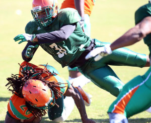 FAMU's football team had an up-tempo scrimmage this past Saturday. Photo by Vaughn Wilson