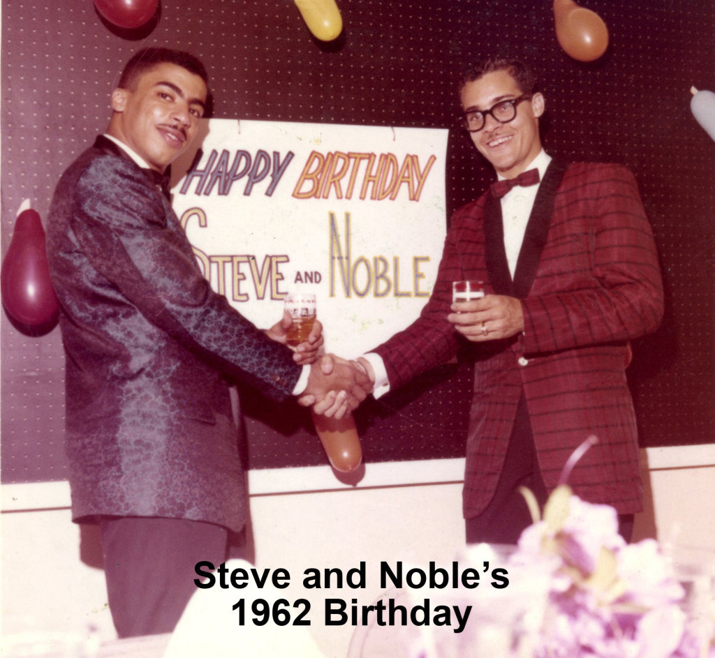 Beasley and Sissle pose together at their first joint party together  back in 1962.