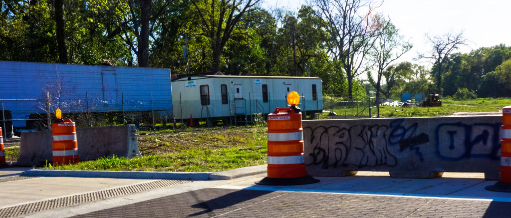 The construction is still underway for the expansion of FAMU Way to Lake Bradford road. Photo by Elegance Davis