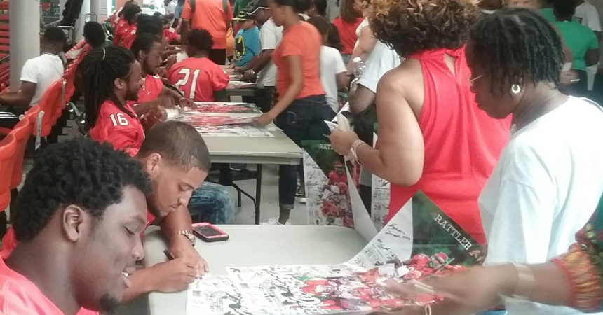 FAMU's Kennion  reunites with  grandfather on fan day